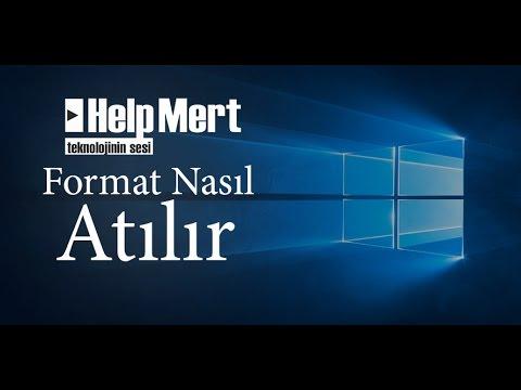 Format Nasıl Atılır Windows 7/8/8.1/10