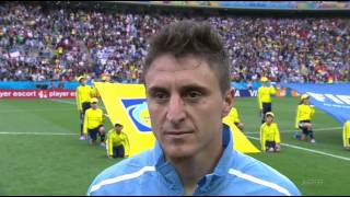Uruguay vs England World Cup 2014 national anthems