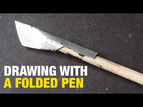 Drawing with a Folded Pen