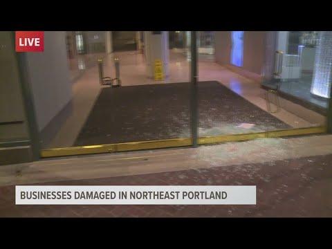 Vandalism At Portland Mall During Riot