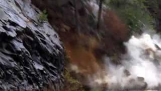 Video of rock slide swallowing Highway 64 in the Ocoee Gorge