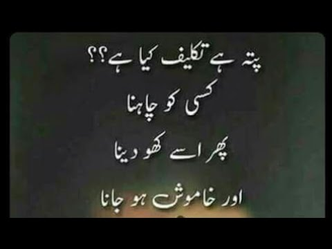 Sad broken heart quotes in urdu