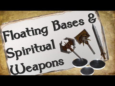 How to Make Floating Bases + Spiritual Weapon Spell Effects for D&D