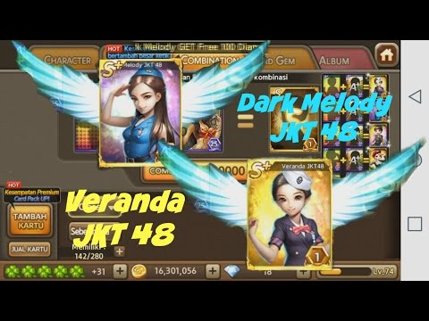 [LINE LET'S GET RICH] DARK MELODY & VERANDA JKT 48 !! (Lucky Cat Cube Event)