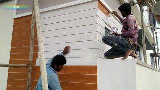 Wall planks Wood shade painting DIY Asian paints