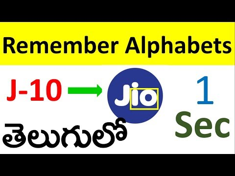 Alphabet & number Remembering trick in Telugu | alphabets Remember tricks