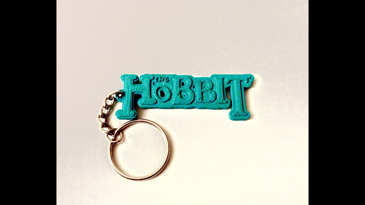 3d printing time lapse the hobbit keychain youtube