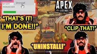 DrDisrespect OFFICIALLY UNINSTALLS Apex in RAGE After Watching His Replay!