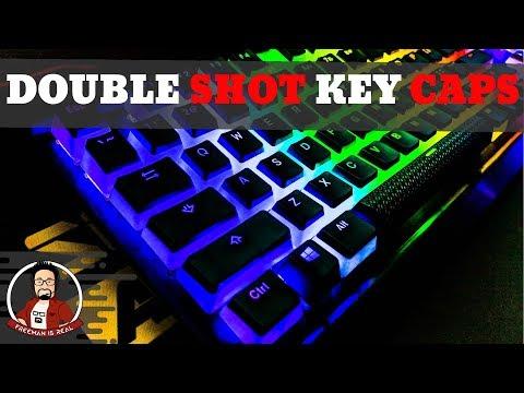 HyperX Double Shot PBT Keycaps | The Best Custom Keycap set for RGB keyboards