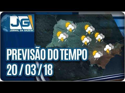 Previsão do Tempo - 20/03/2018