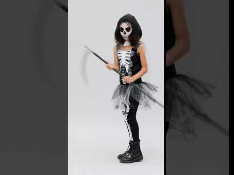 Girls Skeleton Reaper Child And Teen Halloween Costume Youtube