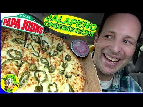 Papa John's® | JALAPEÑO CHEESESTICKS Review 🌶️🧀🥖 | Peep THIS Out! 🍕