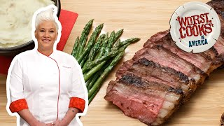How to Make a Steakhouse-Style NY Strip Steak with Anne Burrell | Worst Cooks in America