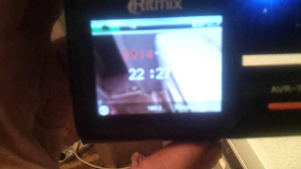 Как выставить дату и время на видеорегистраторе
