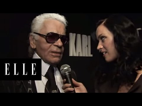 Katy Perry Interviews Karl Largerfeld at Paris Fashion Week | ELLE