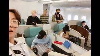 190209 BTS UPDATE a Video saying goodbye to ARMY before the flight take off to LA ✈️✈️👋