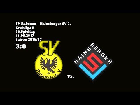2017-06-11 / 26. Spieltag / Kreisliga B (West) / SV Rabenau-Hainsberger SV 2.
