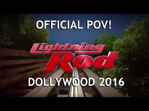 Lightning Rod Official POV Dollywood COMING IN MARCH 2016! NEW RMC Launched Roller Coaster IAAPA