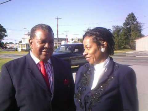 Bishop Harmon and Joyce Greene celebrating Mr Elsey in Delaware