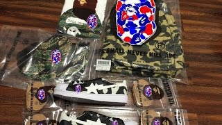 049 bape shaolin   bape   a bathing ape   unboxing   clothing   collection   outfit   pickup  review