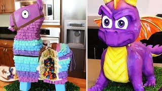 Video Game Cakes Compilation - Fortnite, Spyro, Sea of Thieves, Minecraft