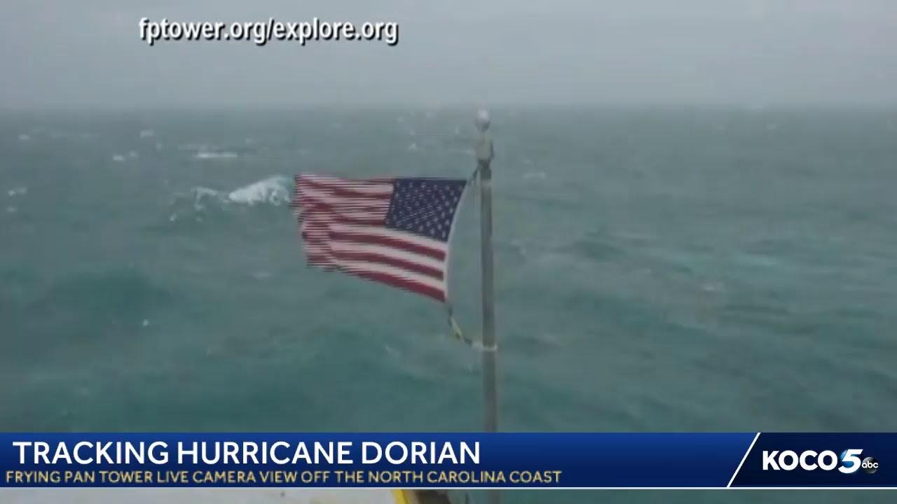 Watch Frying Pan Tower's LIVE camera view of Hurricane Dorian