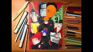 Speed Drawing - The Akatsuki (Naruto Shippuden) [HD]
