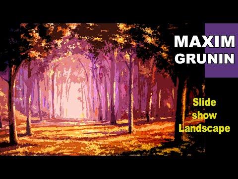 Maxim Grunin MFA paintings slideshow