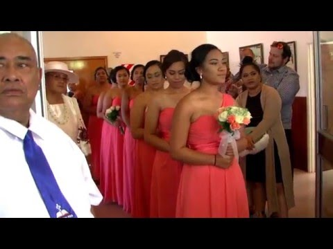 Tai and Junior Samoan Wedding 12 March 2016 - Bridesmaids Entrance