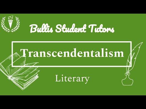 henry david thoreau and transcendentalism