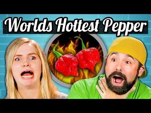 WORLDS HOTTEST PEPPER CHALLENGE! - TEENS/ADULTS vs. FOOD
