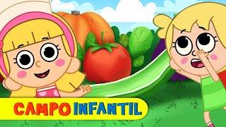 La canción de los vegetales - Canta, juega y aprende | Campo Infantil