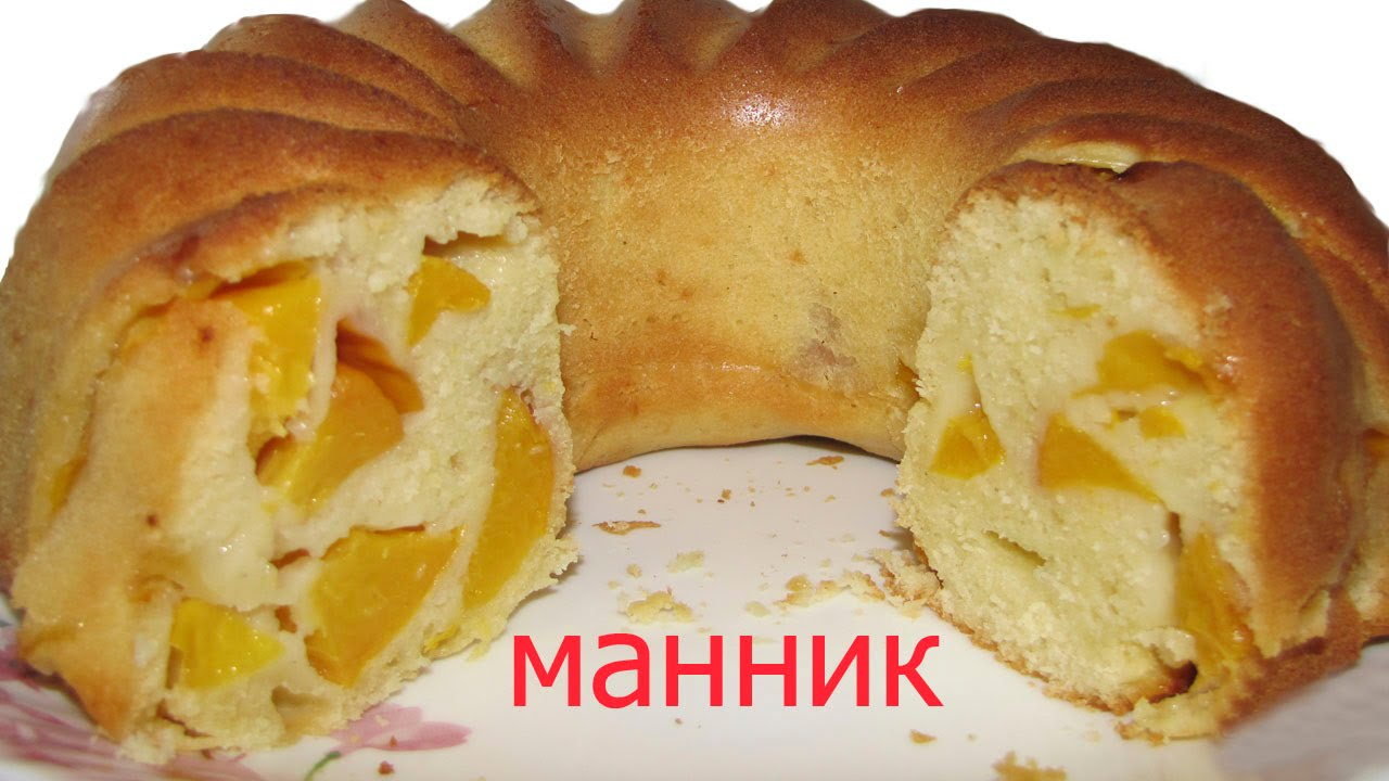 манник на молоке с яблоками рецепт с фото