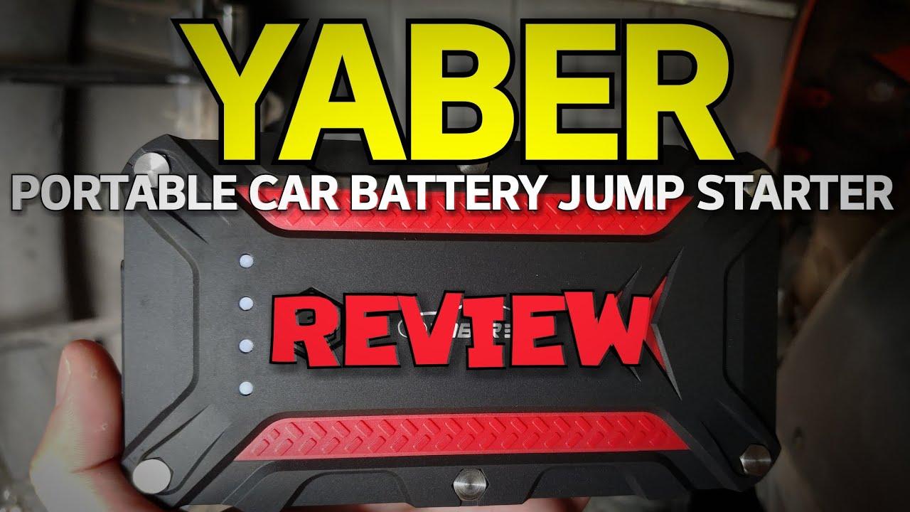 Portable Car Jump Starter >> Yaber Portable Car Battery Jump Starter REVIEW - YouTube