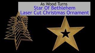 Star Of Bethlehem Laser Cut Christmas Ornament