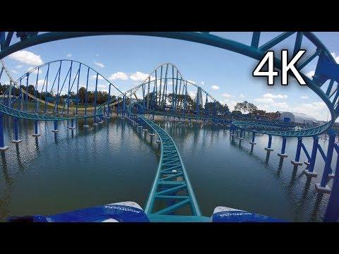 Wave Breaker: The Rescue Coaster front seat on-ride 4K POV SeaWorld San Antonio