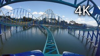 Wave Breaker: The Rescue Coaster front seat on-ride 4K POV SeaWorld San Antonio