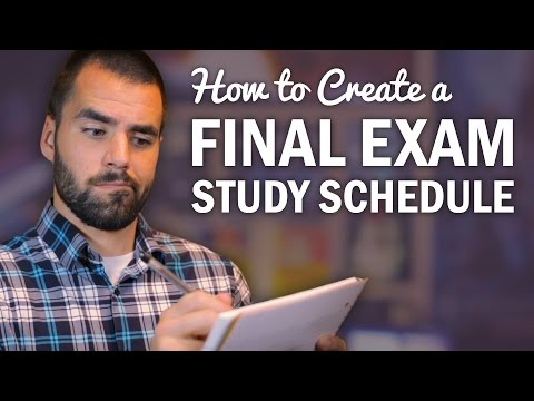 How to Make a Final Exam Study Schedule - College Info Geek