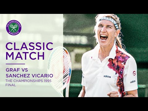 Steffi Graf Vs Arantxa Sanchez Vicario | Wimbledon 1995 Final | Full Match