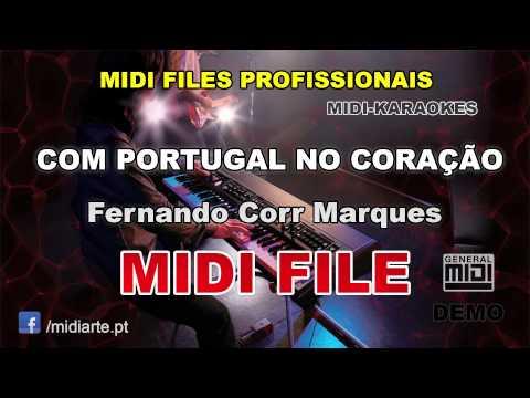 ♬ Midi file  - COM PORTUGAL NO CORAÇÃO - Fernando Corr Marques