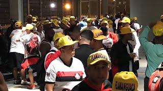 Direto da concentração da torcida do Flamengo no Maracanã indo de escolta pro Engenhão!