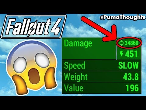 Fallout 4: What is the Highest or Most Damage Possible? (34,860 DAMAGE LEGIT!!!) #PumaThoughts