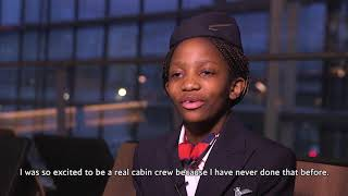 British Airways Makes Young Girl's Dream To Be Cabin Crew Come True