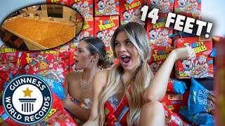 WE MADE THE WORLDS LARGEST CRISPY TREAT!! **WORLD RECORD**