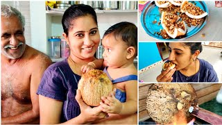 How to Make Grilled coconut Traditional Dish by Appukutty and Pulikutty