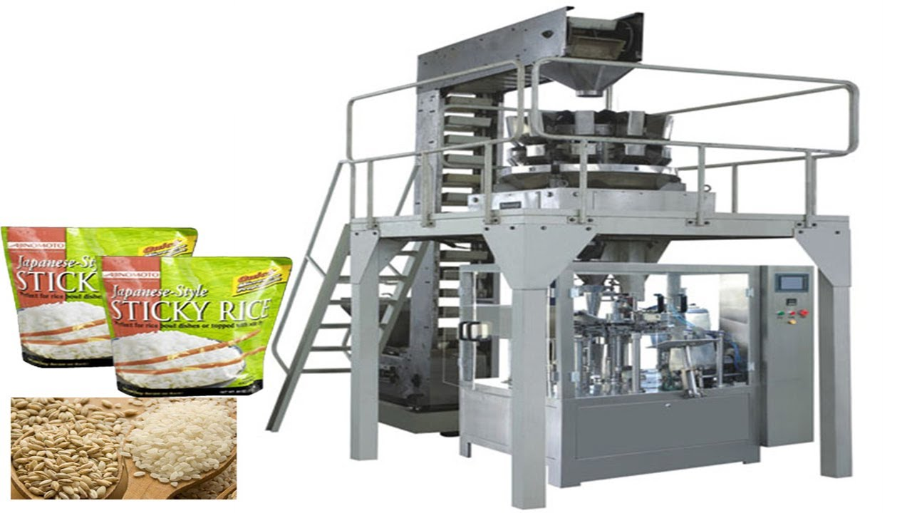 MultiHead Weigh Filling VFFS Packaging Machine for Large Bags food packing  equipment for Granules - YouTube