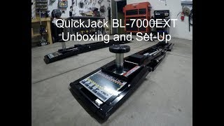 QuickJack BL-7000EXT Unboxing and Set-Up