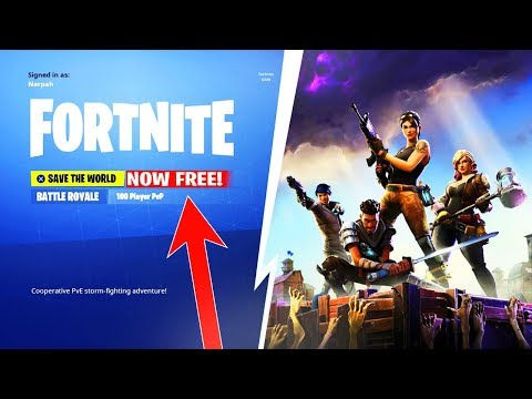 FORTNITE SAVE THE WORLD will be FREE! RELEASE DATE + INFO - Fortnite Battle  Royale