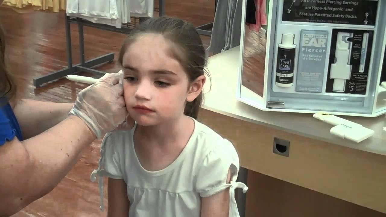 Bethany Ear Piercing At Wal Mart Youtube