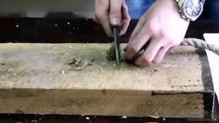 Тестирование ножа из кованой стали 9ХС «Сокол» видео(Тестирование ножа из кованой стали 9ХС «Сокол» видео, производитель Сёмин Ю.М., Ворсма., 2013-05-15T07:10:14.000Z)